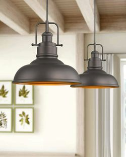Farmhouse Industrial Hanging Pendant Light Fixture for Sale in Bergenfield,  NJ