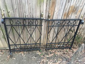 Iron & brass railings/ fence 2 pieces / vintage ironworks antique for Sale in Washington, DC