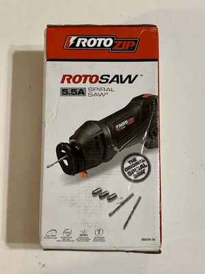 Rotozip 5.5 Amp Corded 1/4 in. Rotary RotoSaw Spiral Saw Tool Kit SS355-10 for Sale in Fountain Valley, CA