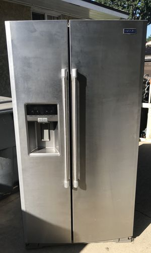 Maytag fridge side by side stainless steel refer for Sale in Long Beach, CA