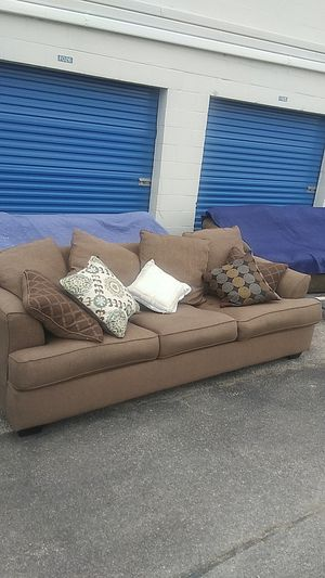 Brown Ashley Furniture sofa couch - pickup only for Sale in Houston, TX