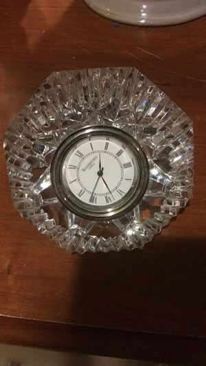 Crystal clock for Sale in Mount Airy, MD