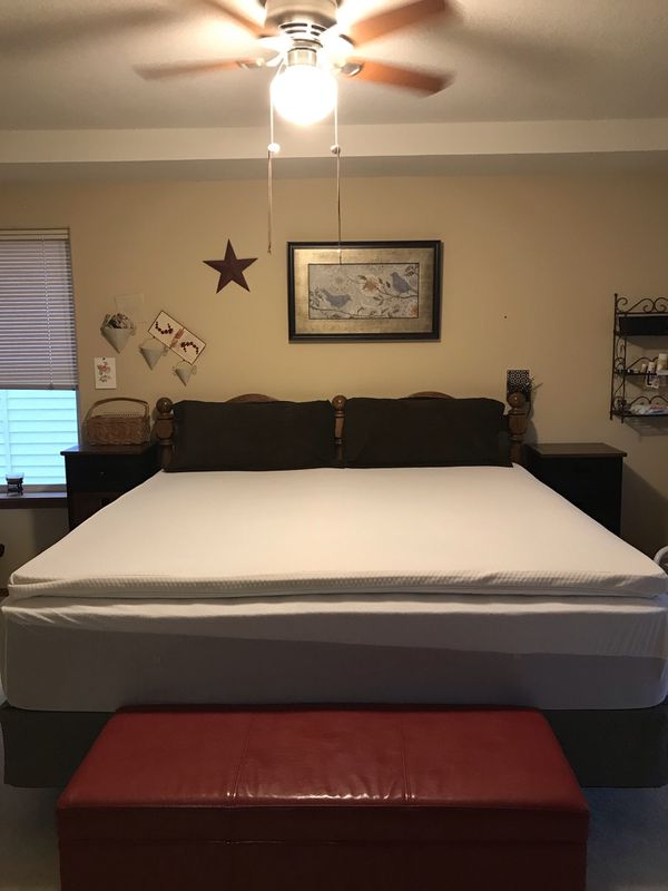 """King size mattress/topper/frame"""