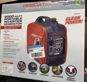 Predator Portable inverter generator 2000 Watt for Sale in Dearborn, MI