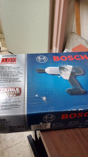 Bosch high torque impact wrench with 7/16in. Hex Chuck for Sale in Los Angeles, CA