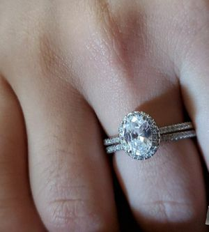 New sterling silver engagement wedding ring set for Sale in Los Angeles, CA