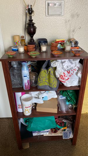 Brown open cupboard with 3 shelves for Sale in Redlands, CA