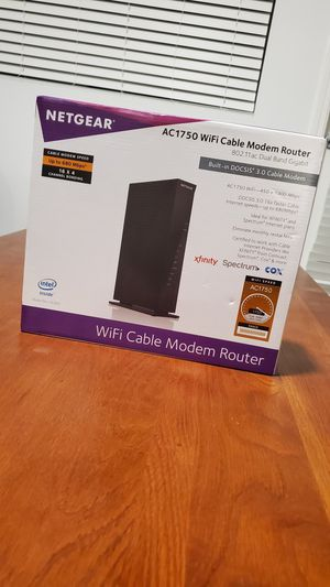 Netgear AC1750 Wifi Cable Modem Router for Sale in Laguna Beach, CA