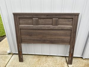 Wooden Bed Frame + Box Spring for Sale in Vancouver, WA