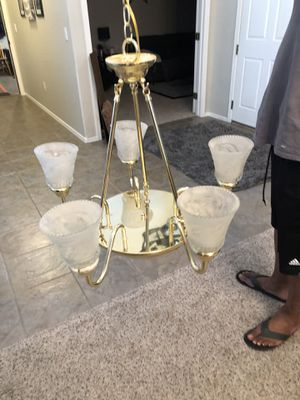 Gorgeous two tier gold chandelier pendant light fixture for Sale in Gilbert, AZ