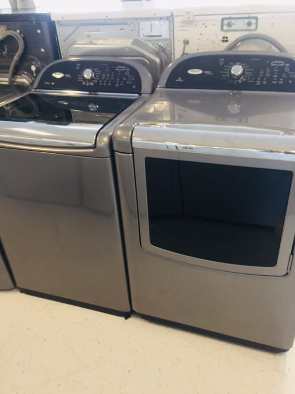 🔥🔥Whirlpool cabrio washer and electric dryer set in excellent condition 90 days warranty 🔥🔥
