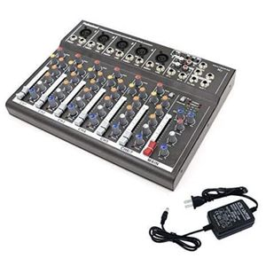 4/7 Channel Professional Powered Mixer Power Mixing Live Studio Audio Sound DJ-Mixer Mixing Console with USB slot (7 Channel for Sale in La Habra, CA
