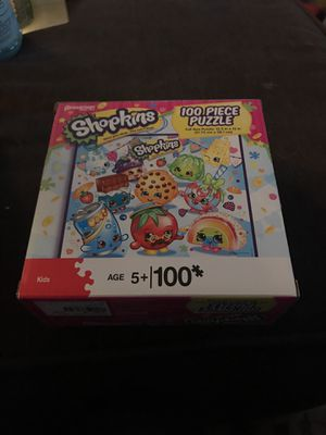 100 piece shopkins puzzle for Sale in Westport, MA