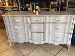 Solid wood nine drawer dresser for Sale in Chino, CA