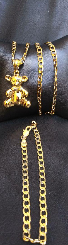 🚚💨I deliver🚀I Ship...😍😍14kt 💎Gold filled 💦 Necklace bracelet and charm 🌟🌟🌟🌟🌟 for Sale in Hollywood, FL
