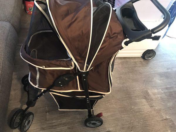 Brown Doggie Stroller