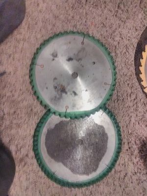 Two 8 inch carbon tipped miter /table saw blades for Sale in Oklahoma City, OK