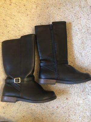Gymboree Tall Black Boot Girl Size 13 Worn Once! for Sale in Olympia, WA