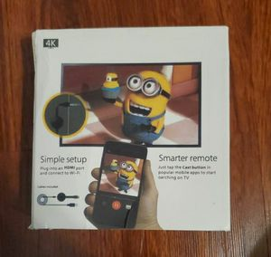 Chromecast tv streaming device by google for Sale in Clermont, FL