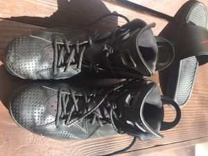 Pair of black air jordan 6's for Sale in West Palm Beach, FL