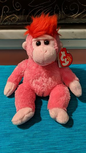 Ty Beanie Baby Charmer the Pink Monkey for Sale in McKeesport, PA
