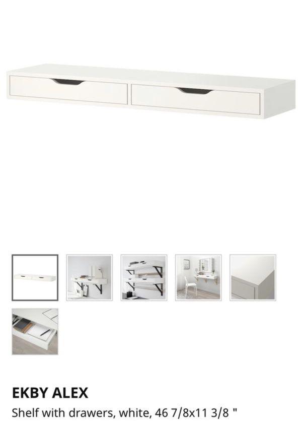 ELBY ALEX Storage Shelf with drawers