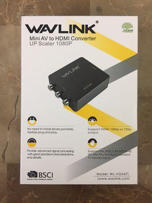Wavlink Mini AV to HDMI converter adapter for TV, laptop, desktop computer or compatible devices for Sale in Pembroke Pines, FL