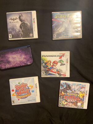 Nintendo 3DS XL wit 5 games for Sale in Murrieta, CA