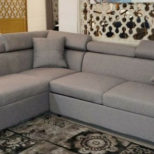 Sectional Sofa w/Sleeper Gray Fabric New for Sale in Portland, OR