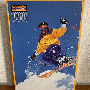 Rose Art Kodacolor Puzzle 1000 Piece Factory SEALED Skiing Kodak NEW for Sale in Miami, FL