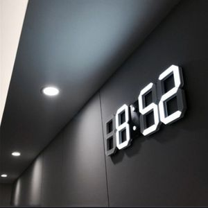 4 LED Digital Numbers Wall Clock With 3 Levels Brightness Alarm Snooze Clock for Sale in New York, NY