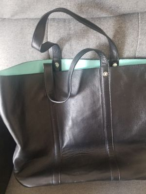 Tiffany black leather tote bag for Sale in Union, NJ