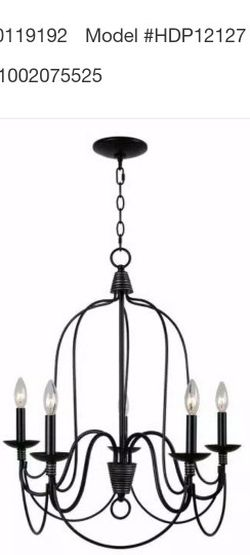 Home Decorators 5 Light Chandelier for Sale in La Mirada,  CA