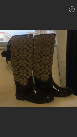 Rain boots coach size 8 for Sale in Hollywood, FL