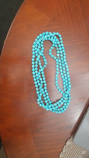 Long wrap around turquoise necklace for Sale in Alexandria, VA