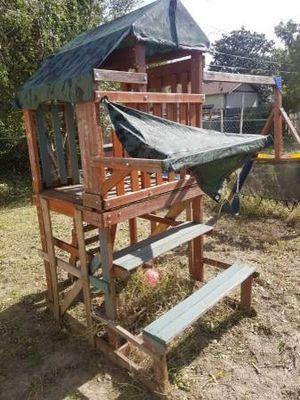 Playground Setup w/ swing fort bench for Sale in Wichita, KS