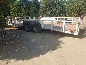 car hauler BIG TRAILER....20ft lonog. 8 ft wide.. for Sale in Visalia, CA