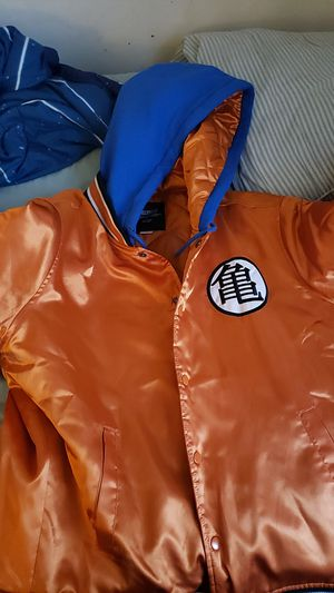 Satin dragonball z Son Goku bomber hoodie jacket for Sale in McDonogh, MD