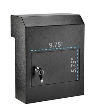 NEW THROUGH-THE-DOOR SAFE LOCKING DROP BOX (Black) Details $140+ Ppu xlisted NEW/NO Returns for Sale in Morrisville, PA