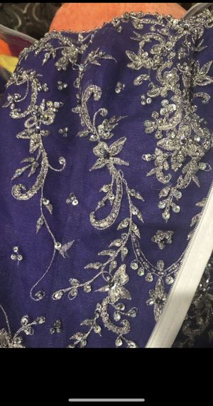 New NEVER worn before ball gown size 12 purple with sequence for Sale in Mesa, AZ