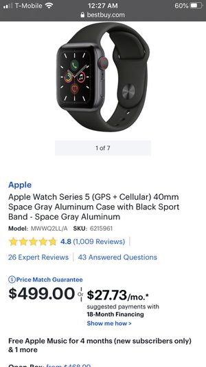 apple watch series 5 40mm for Sale in Torrance, CA