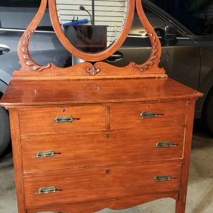 Antique Dresser, Mirror, Bookshelf, And Nightstand for Sale in Bothell, WA