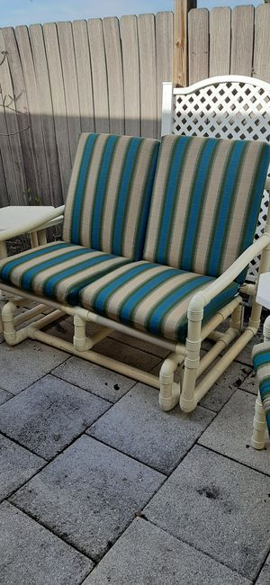 Out door patio furniture 6 pcs Table free when you by the other 5 pcs for Sale in Clearwater, FL