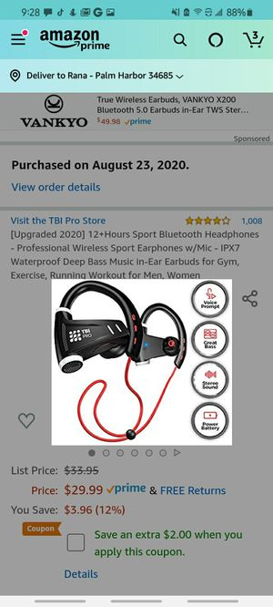12+Hours Sport Bluetooth Headphones for Sale in Palm Harbor, FL