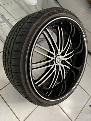 """Lexani """"20 staggered rims with tires for Sale in Hialeah, FL"""