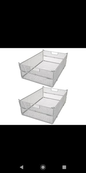 Oasis Set of 2 Collapsible Metal Folding Baskets for Sale in Pompano Beach, FL