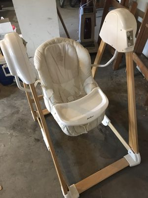 Eddie Bauer Baby Swing and Regalo travel high chair for Sale in Montezuma, CO