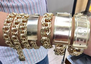 10 karat gold chino link bracelet custom made ( 100 grams) ( item # M101) for Sale in Houston, TX