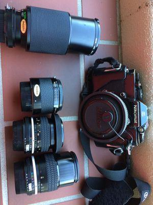 Vintage Nikon camera and lenses for Sale in Pasadena, CA