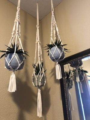 Macrame plant hanger $10 Each for Sale in Los Angeles, CA